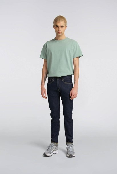 Slim Tapered Rinsed Selvedge Denim Made In Japan