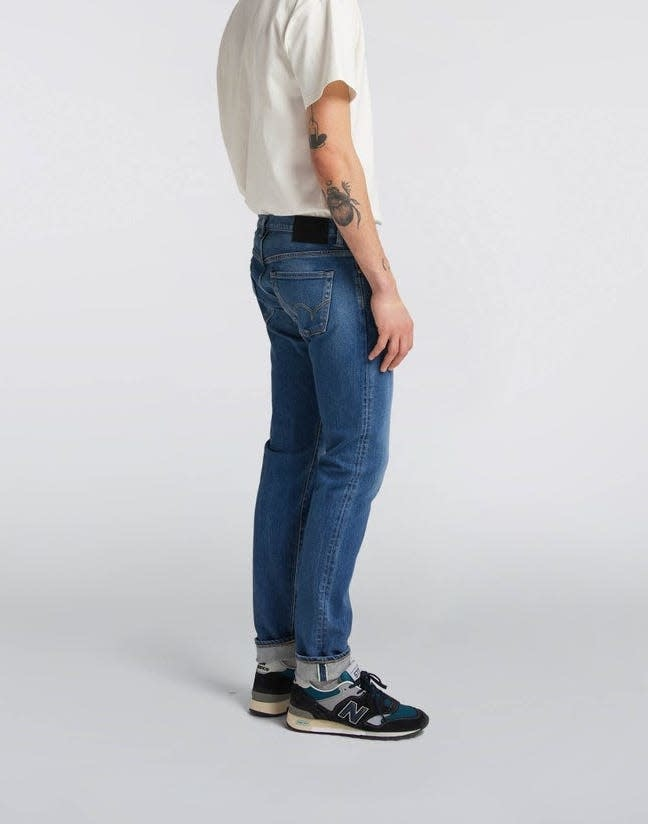 Slim Tapered Mid Used Selvedge Denim Made In Japan-3