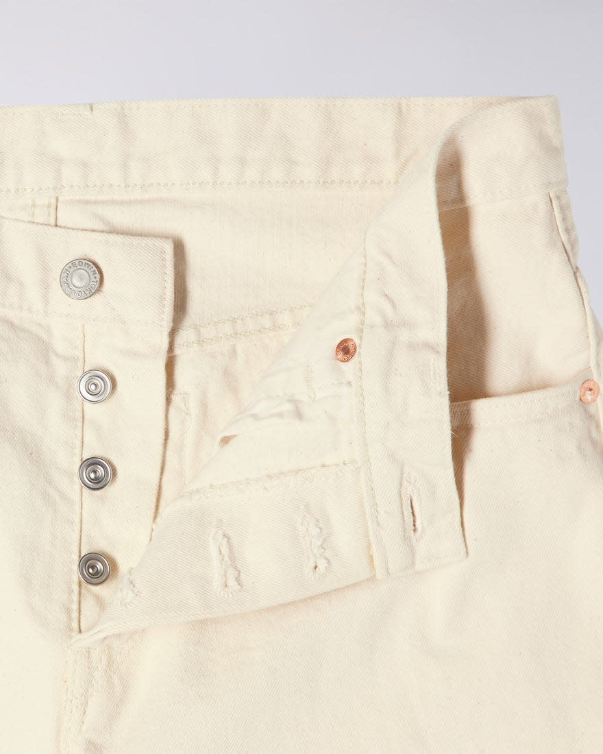 Loose Straight Natural Selvedge Denim Made In Japan-5