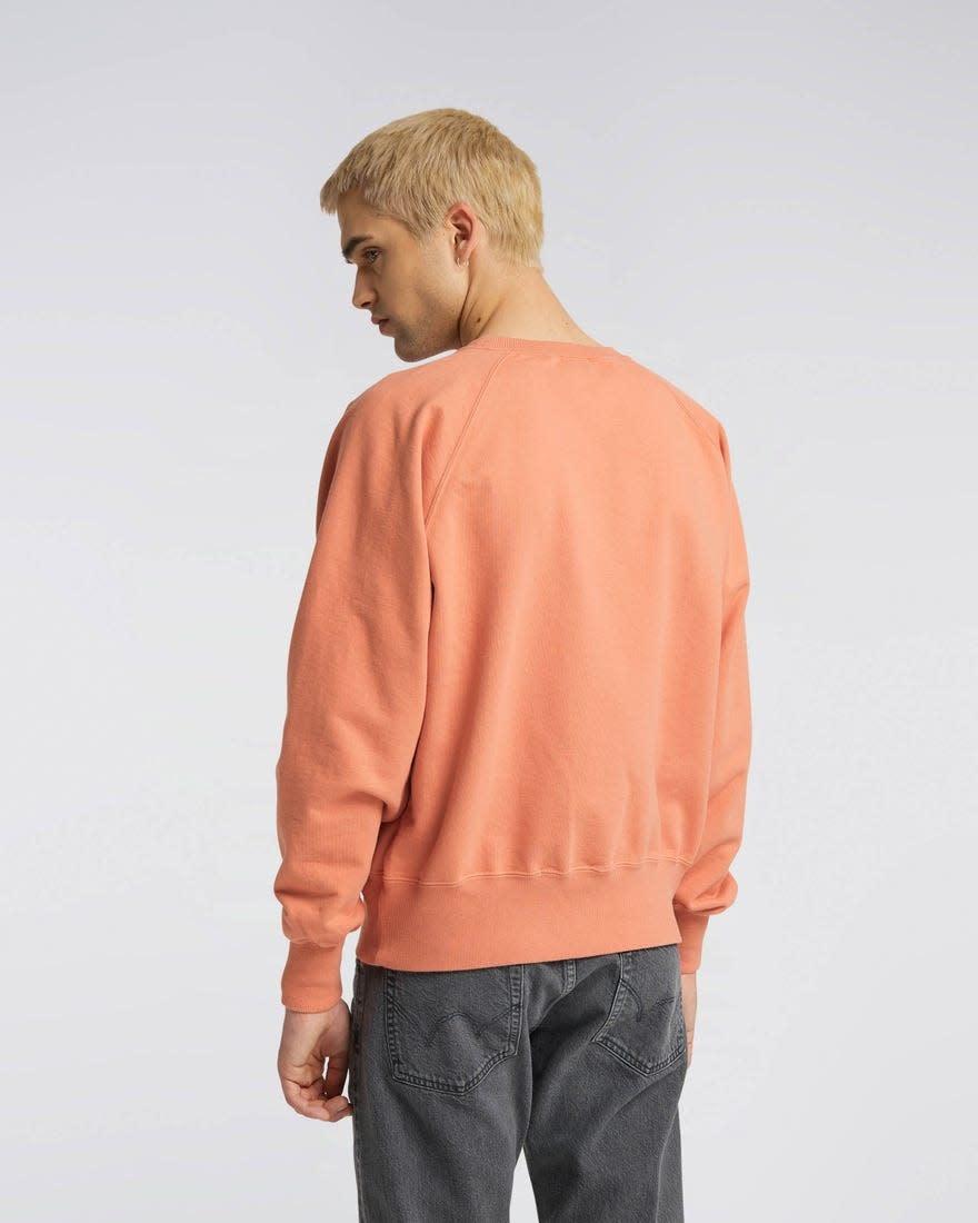 Raglan Sleeve Rinsed Made In Japan Crewneck Soft Orange-3
