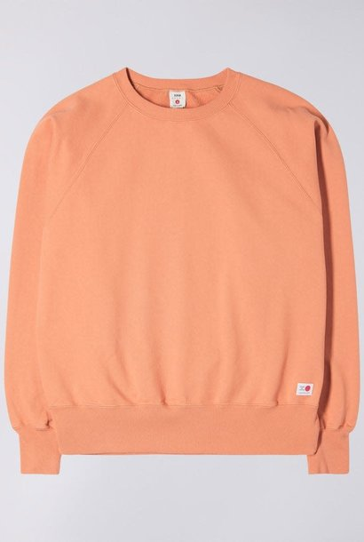 Raglan Sleeve Rinsed Made In Japan Crewneck Soft Orange