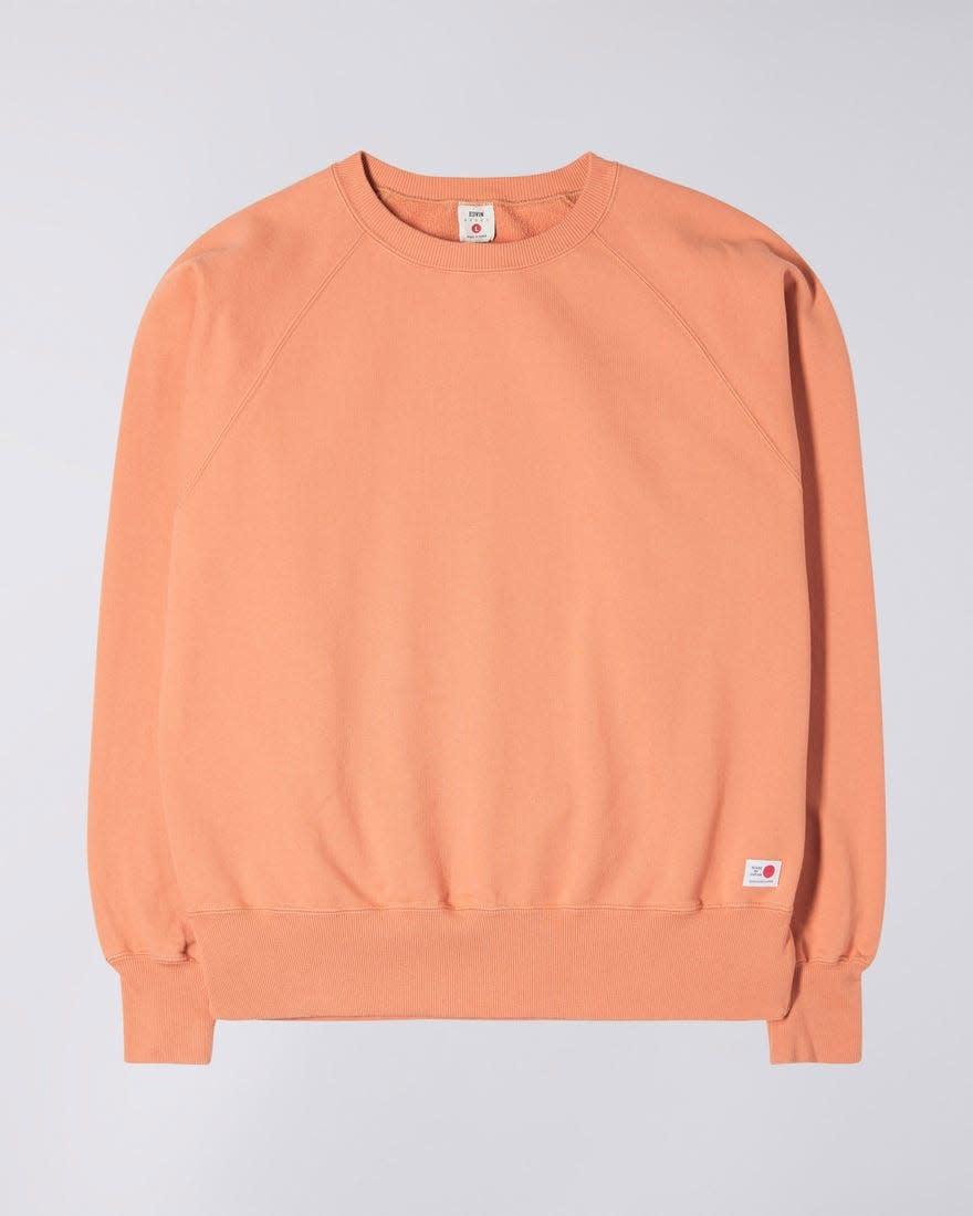 Raglan Sleeve Rinsed Made In Japan Crewneck Soft Orange-1