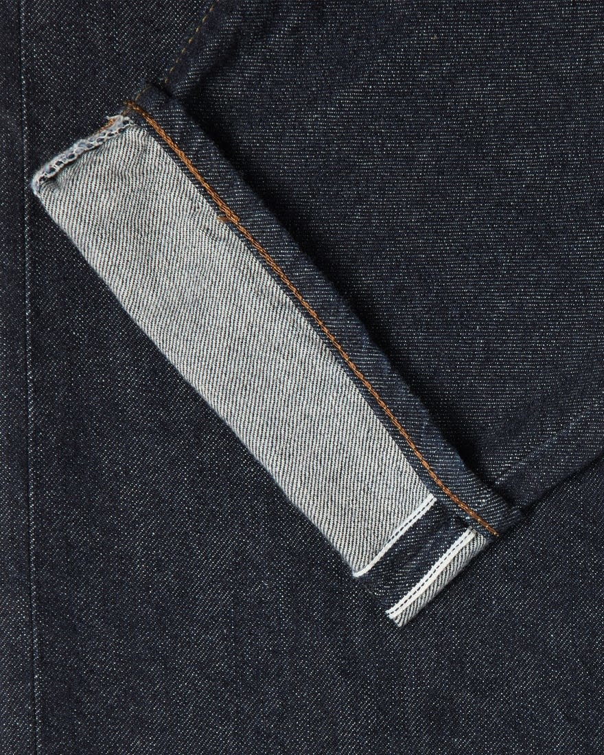Losse Tapered Gewassen Selvedge-denim Made in Japan-7
