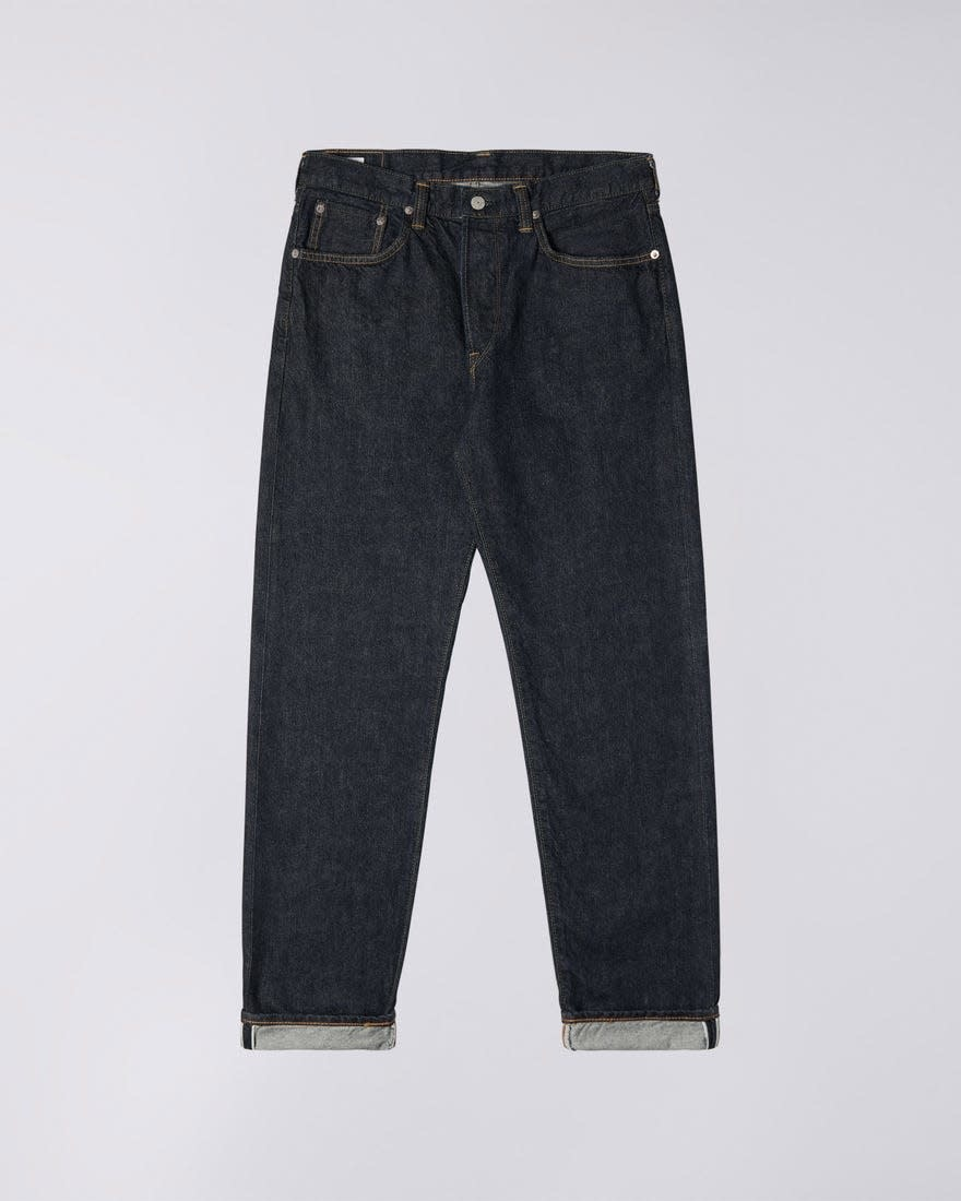 Losse Tapered Gewassen Selvedge-denim Made in Japan-8