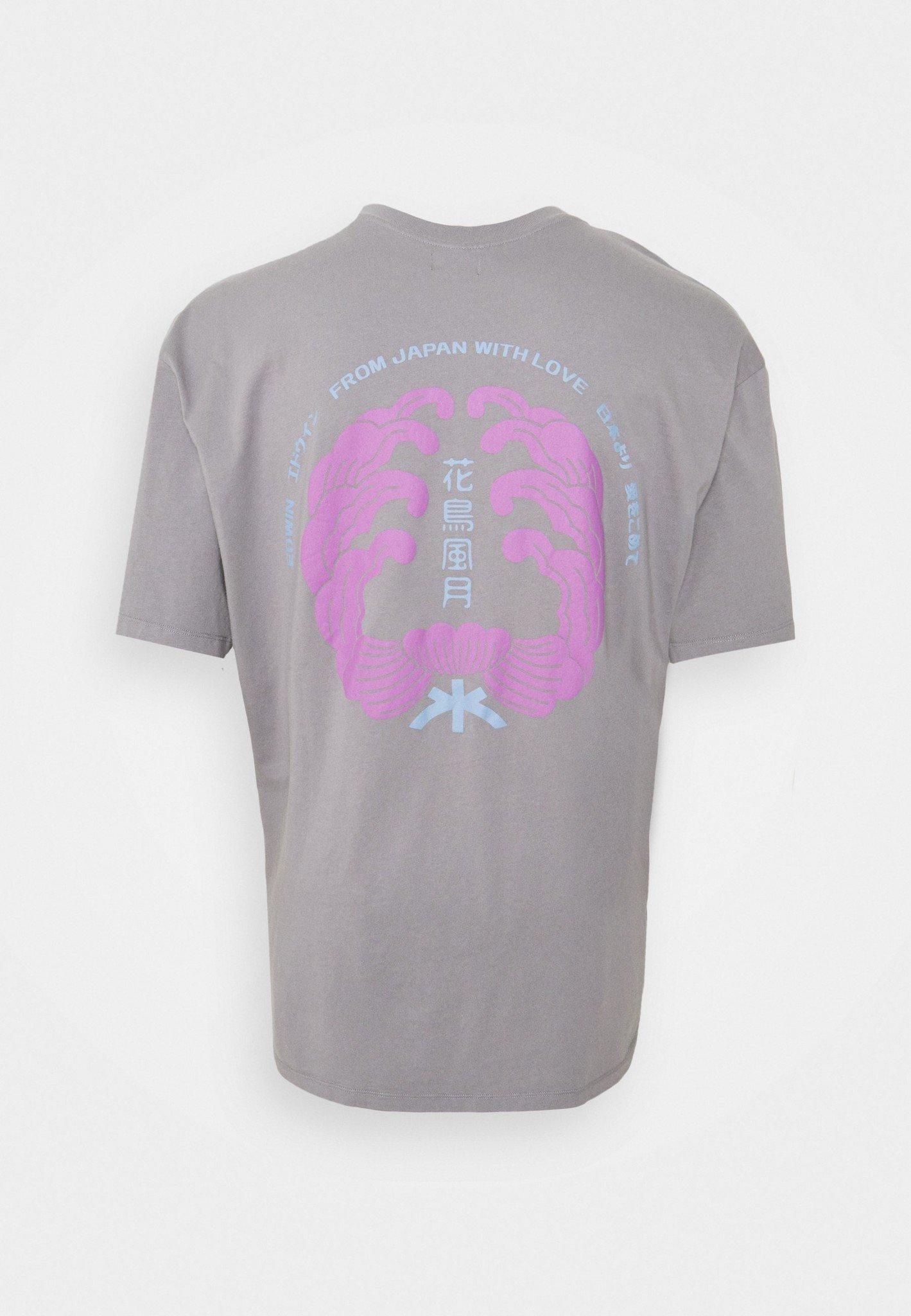 Mondokoro Print T-Shirt Grijs-1