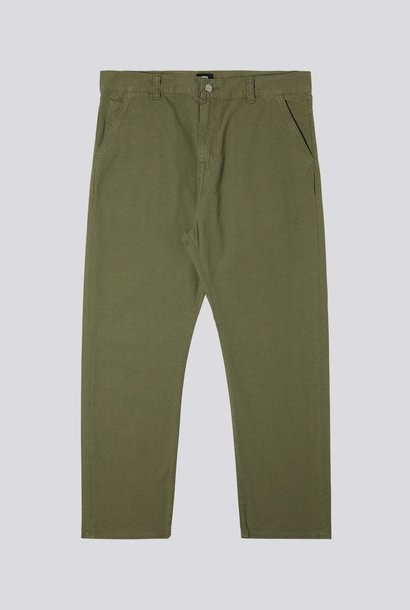 Universe Pant 6.5oz Army Groen Garment Dyed