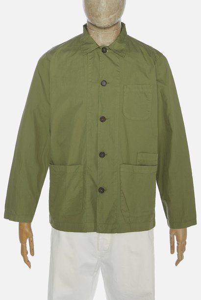 Bakers Poplin Overshirt Olive Green