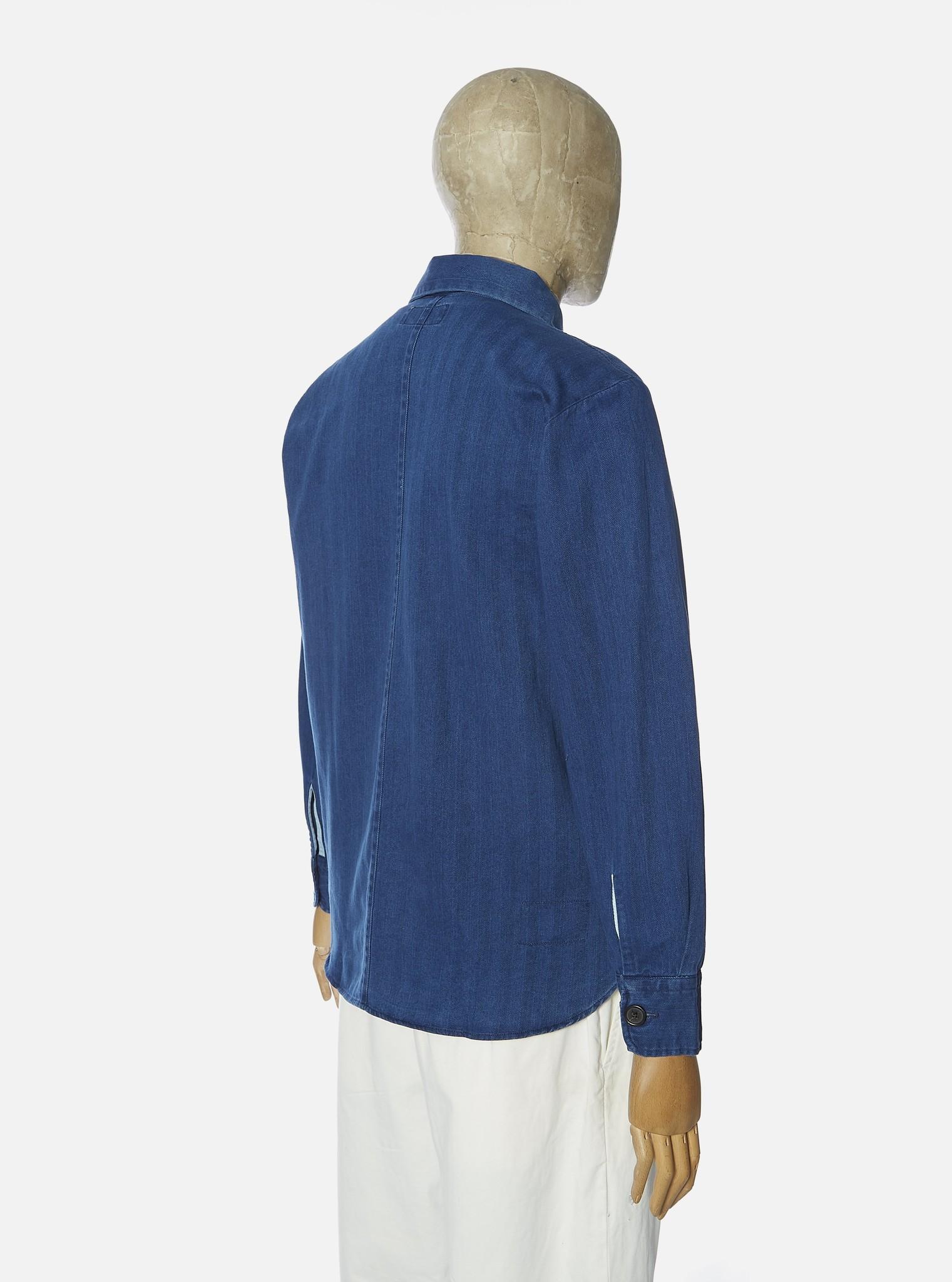 Travail Blauw Overshirt Heren Washed Indigo-2