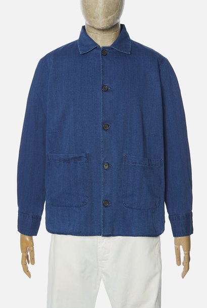 Travail Blauw Overshirt Washed Indigo