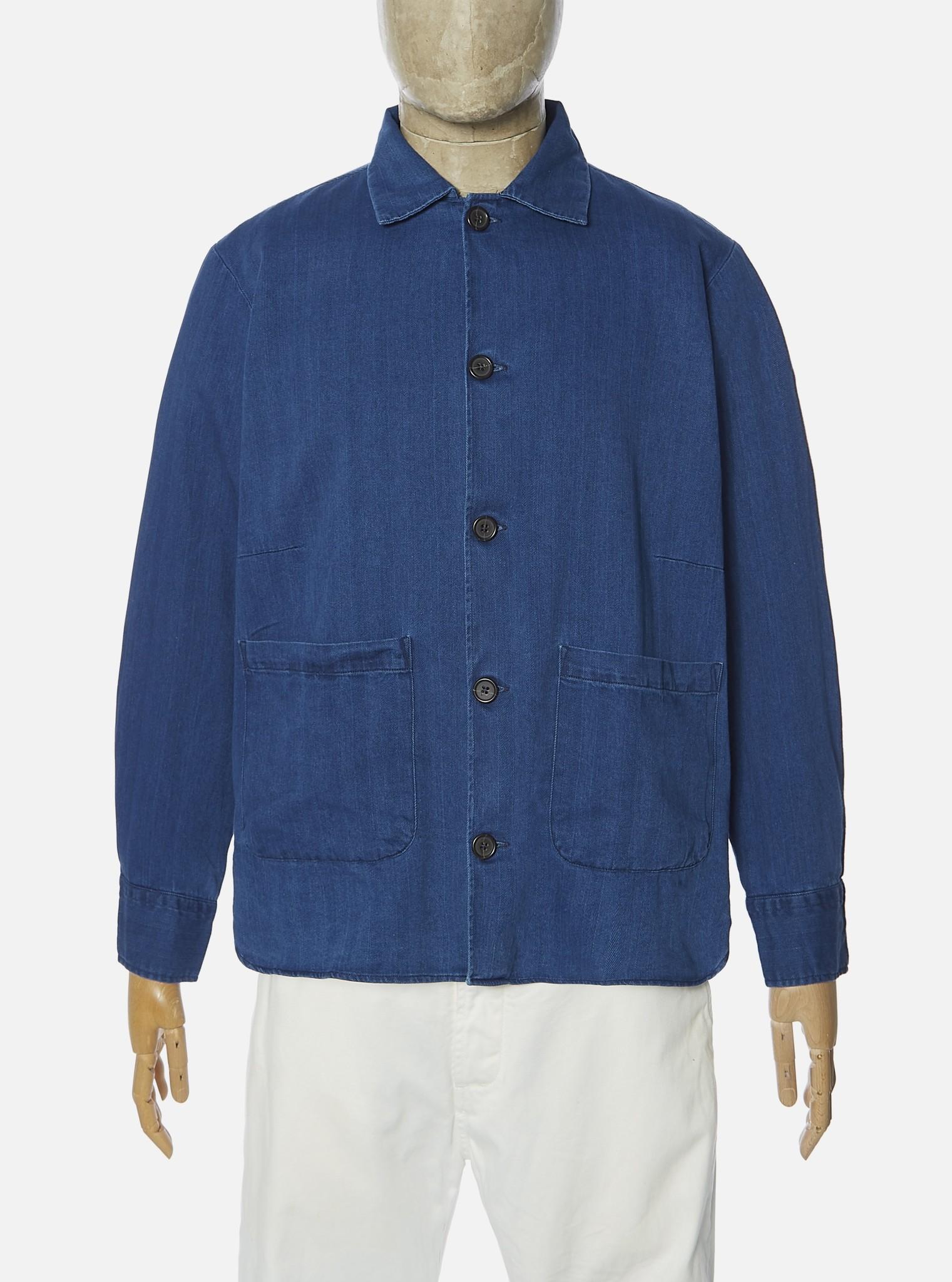 Travail Blauw Overshirt Heren Washed Indigo-1