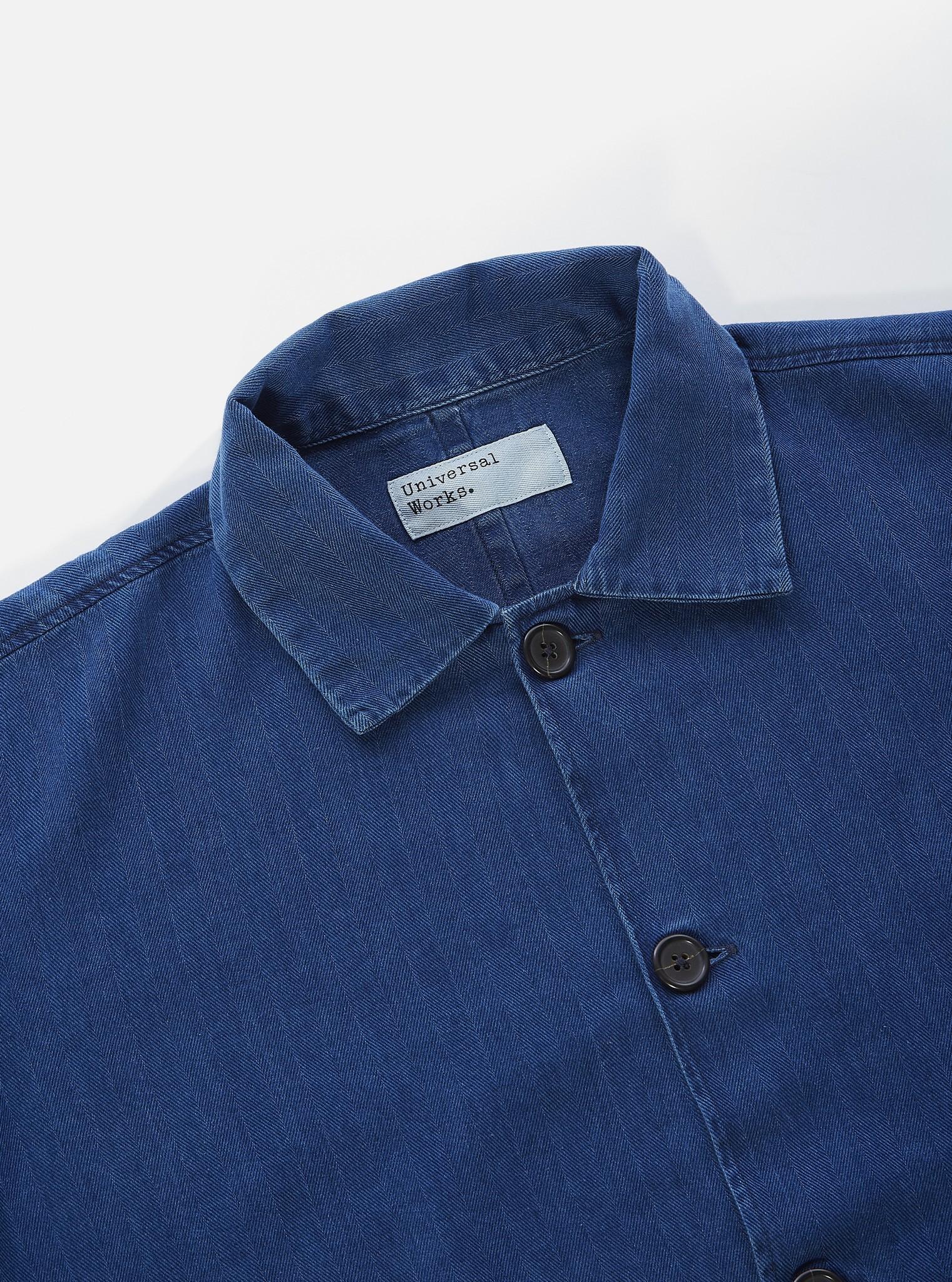 Travail Blauw Overshirt Heren Washed Indigo-3