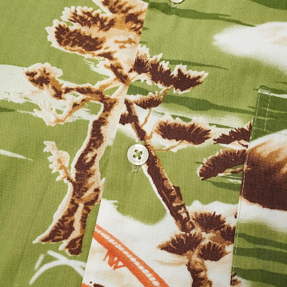 Road Fuji Summer Print Shirt Green-2