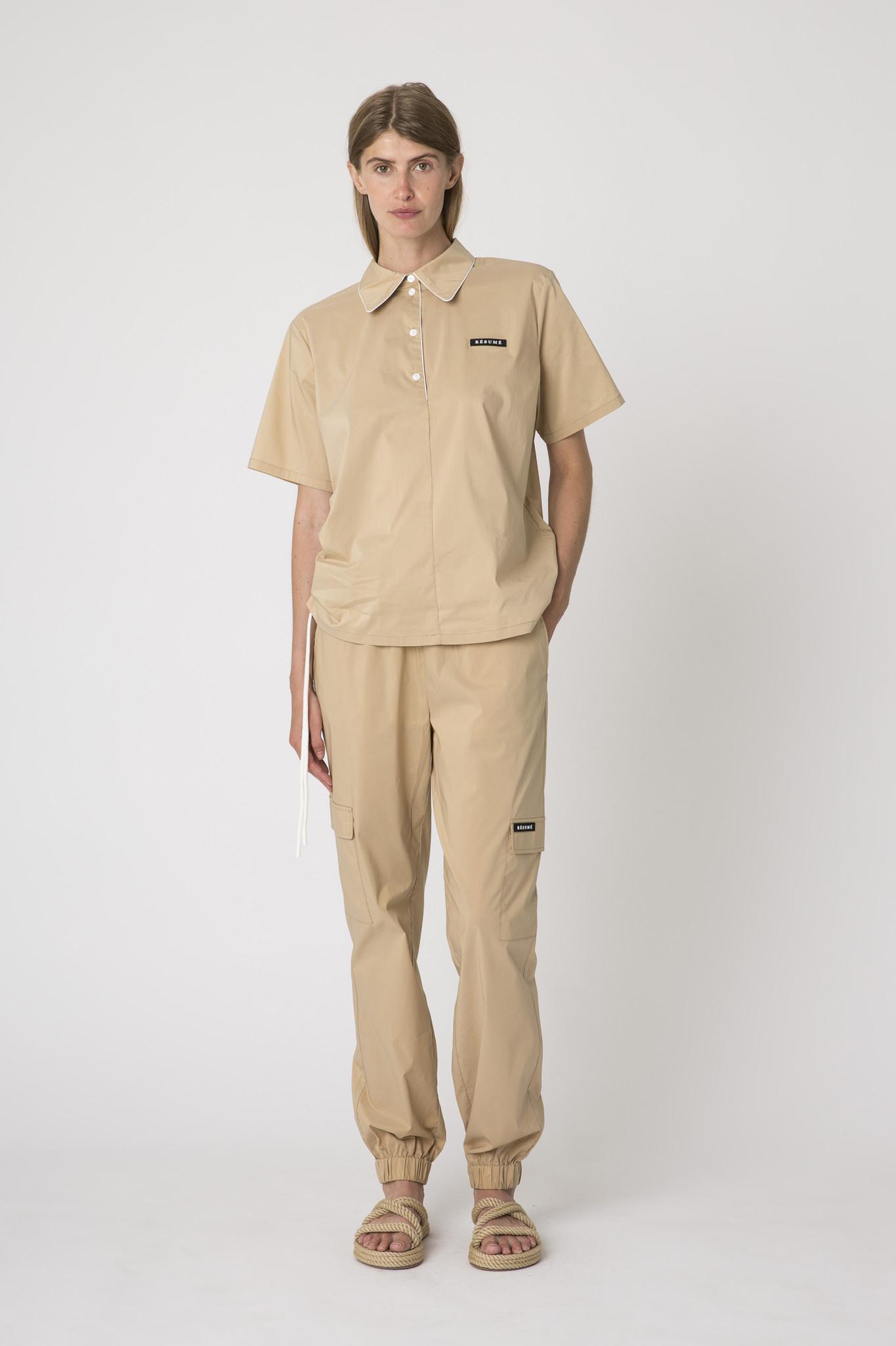 Dominique Shirt Warm Sand-1