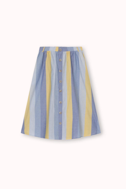 Denver Cotton Stripe Skirt Yellow-2