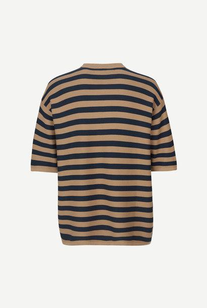 Leon Woven T-Shirt Caribou Stripe