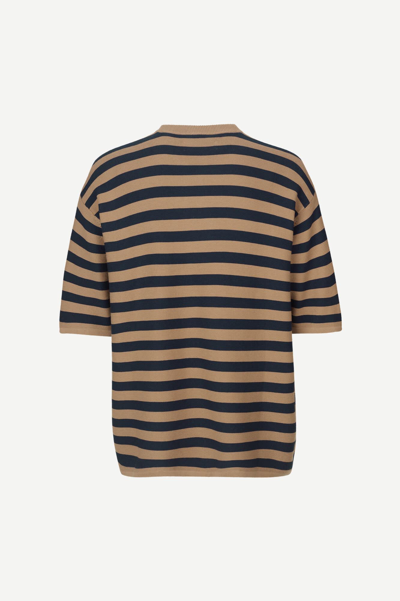 Leon Woven T-Shirt Caribou Stripe-1