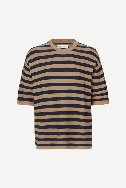 Leon Geweven T-Shirt Caribou Streep
