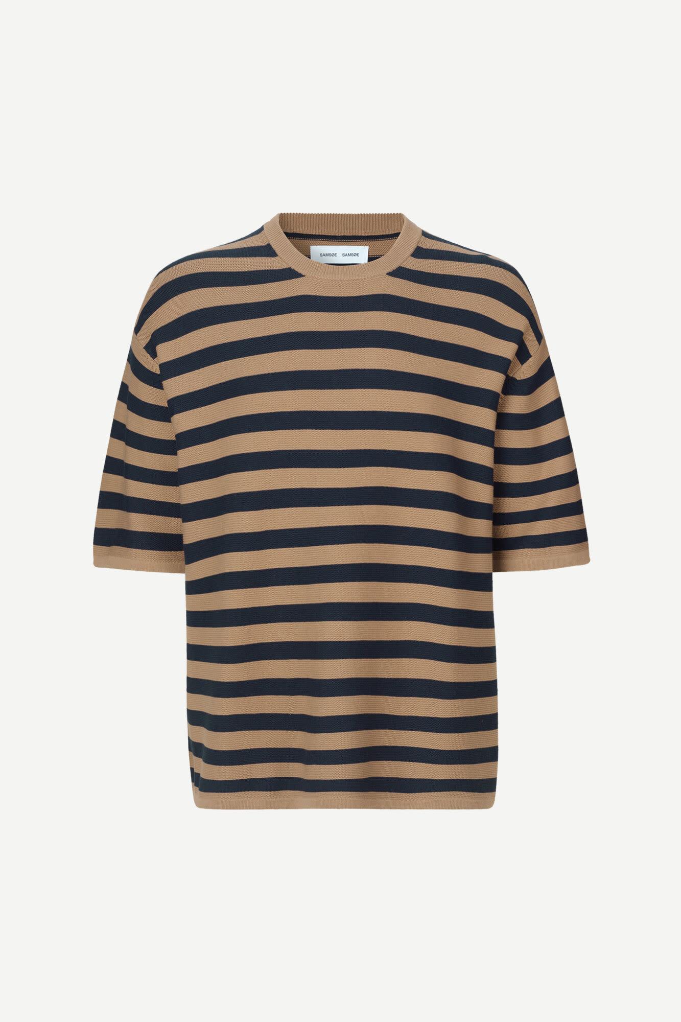 Leon Woven T-Shirt Caribou Stripe-3