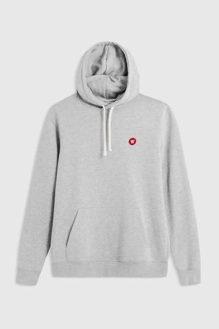 Ian Hoodie Sweatshirt Grey Melange-1