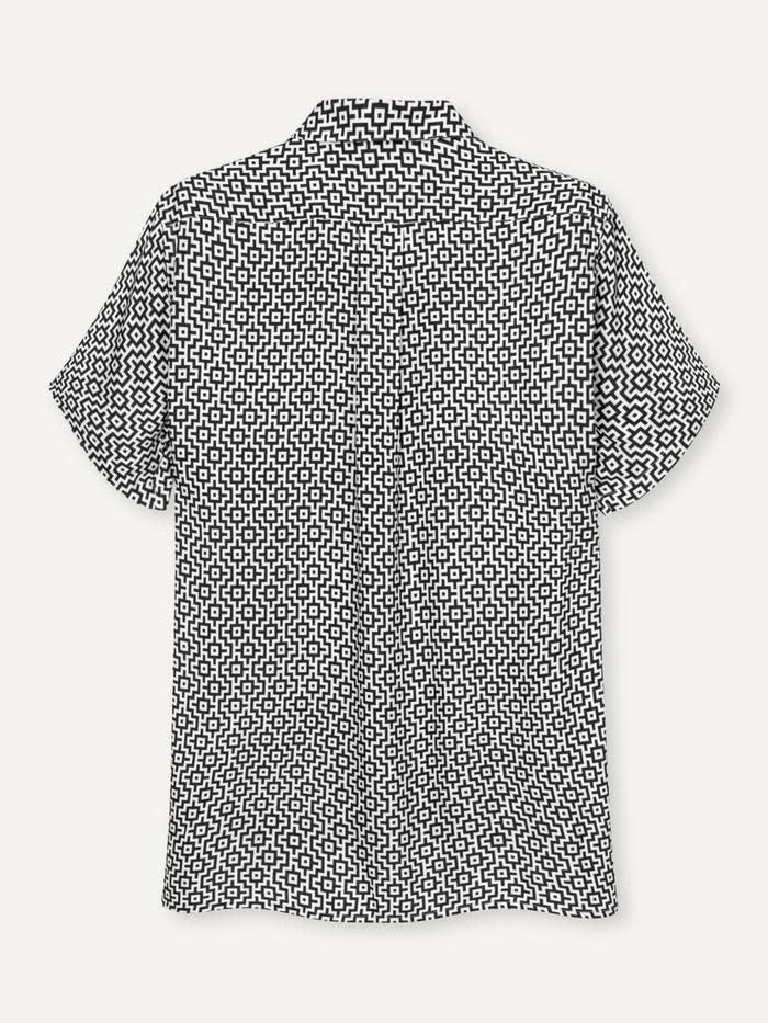 Cave SS Shirt Black White Print-3