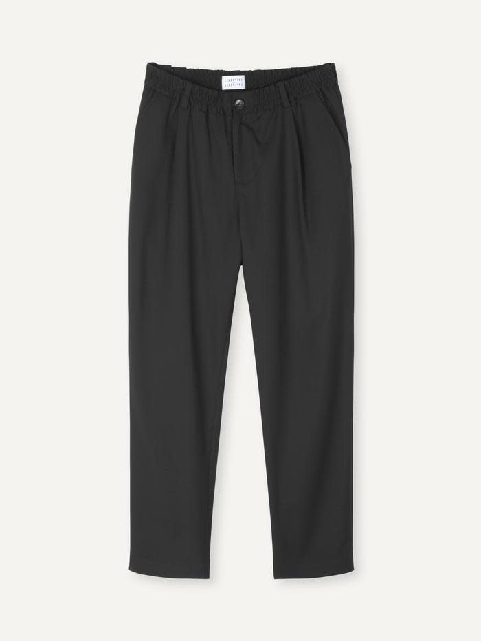 Smoke Loose Fit Pants Black-1