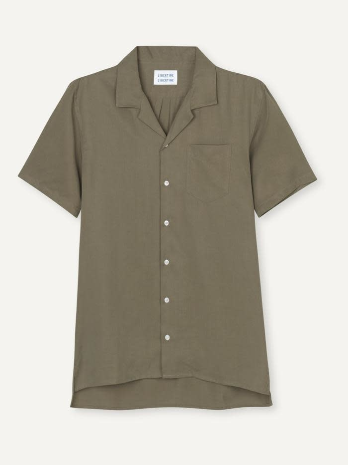 Cave S/S Shirt Olive Green-1