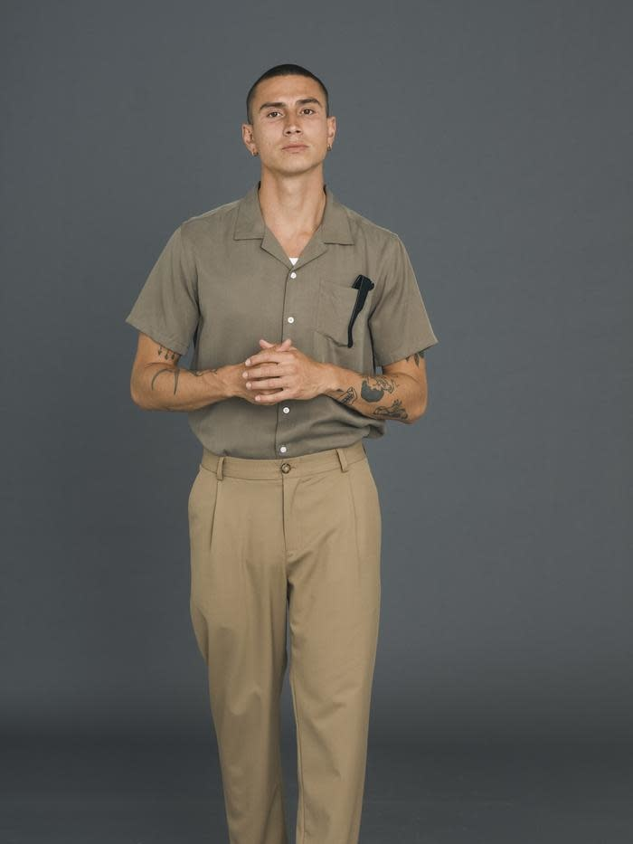 Cave S/S Shirt Olive Green-3
