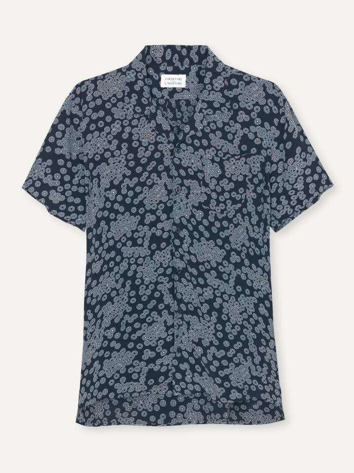 Cave S/S Shirt Dark Navy Print-1