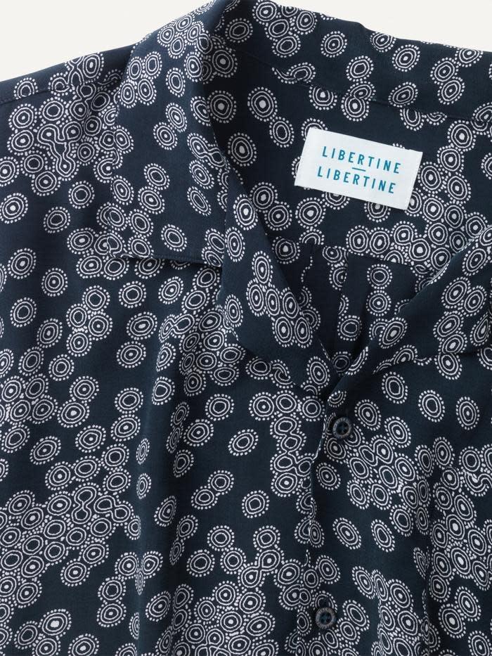 Cave S/S Shirt Dark Navy Print-2