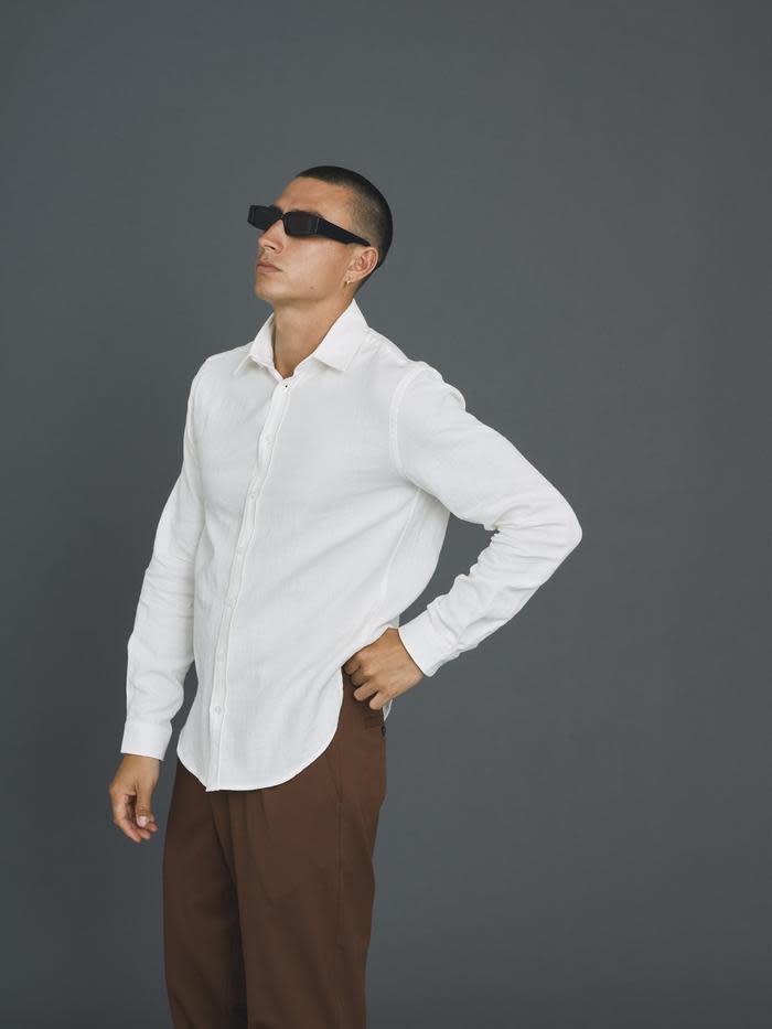 Babylon Off White Cotton Shirt-2
