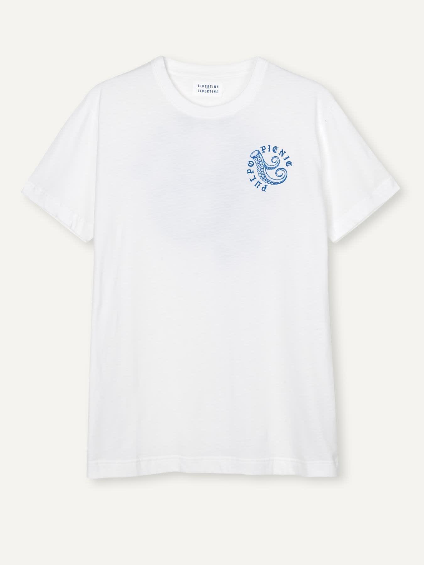 Beat Pulpo Picnic T-Shirt White-1