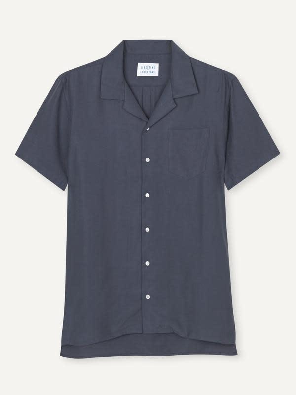 Cave Short Sleeve Shirt Dark Navy-1