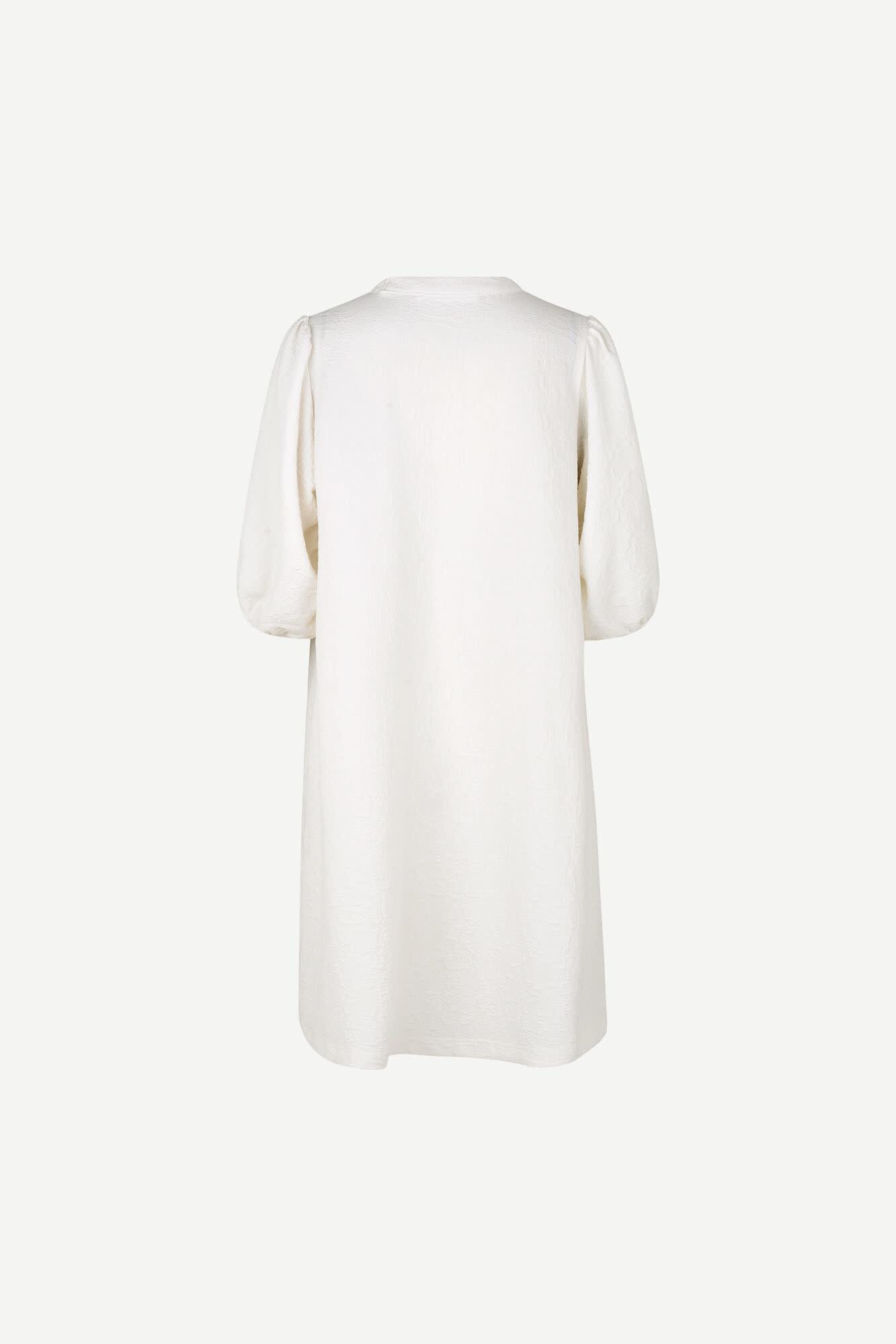 Junis Short Sleeve Dress White-3