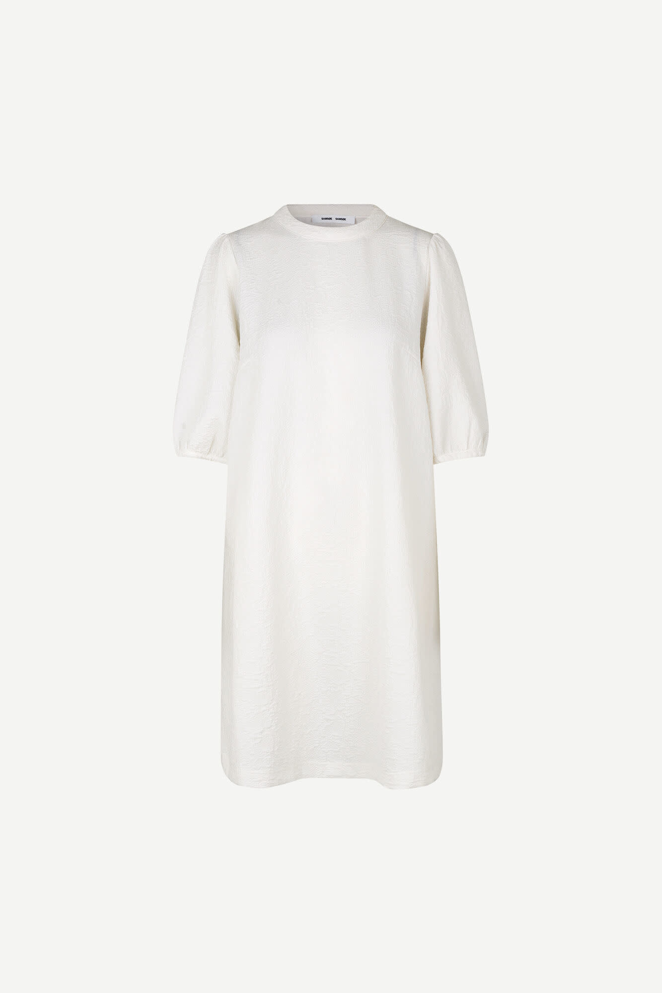 Junis Short Sleeve Dress White-1