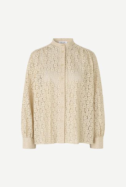 Kiana Brown Rice Embroidery Blouse