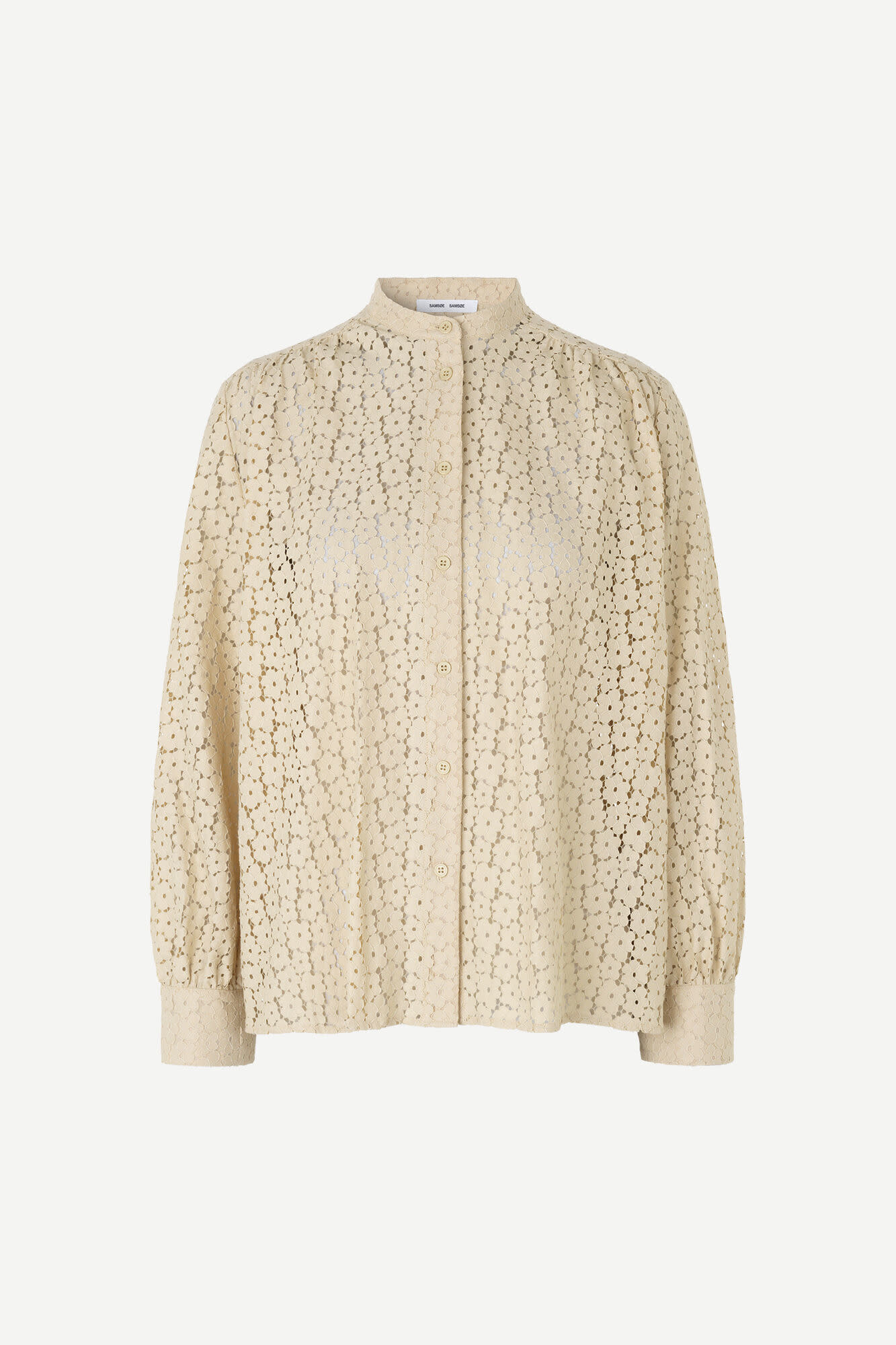 Kiana Brown Rice Embroidery Blouse-1