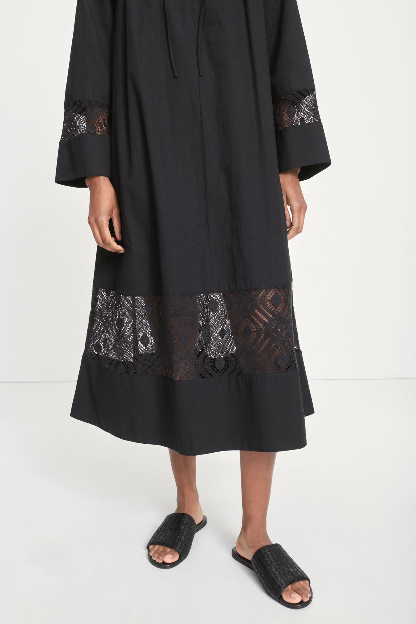 Sahell Black Long Dress-2