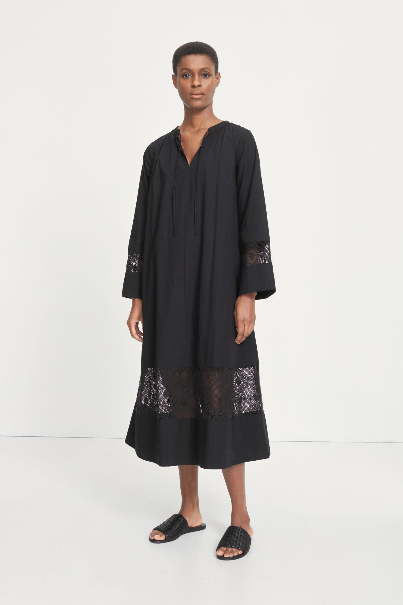 Sahell Black Long Dress-3