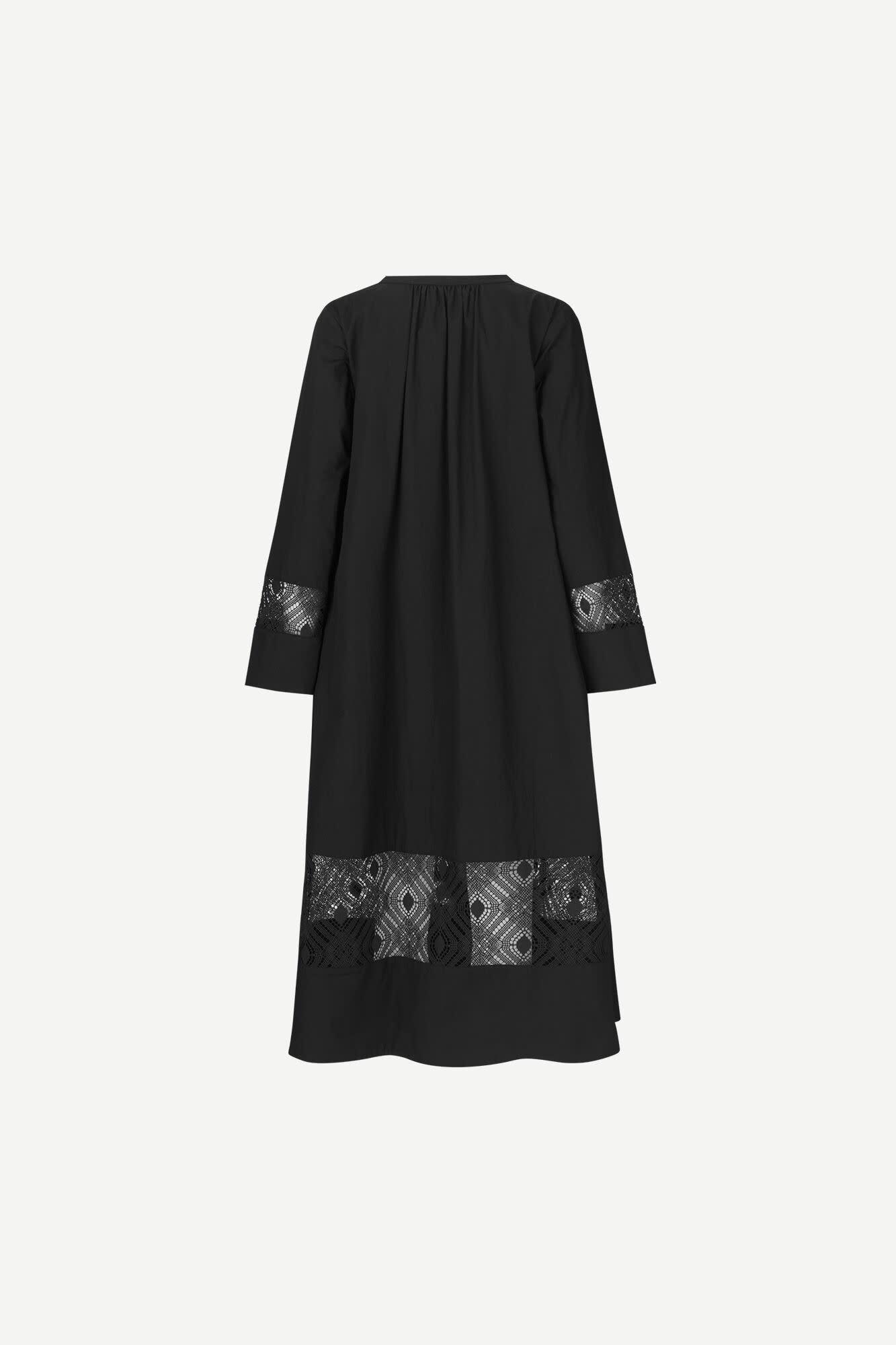 Sahell Black Long Dress-4