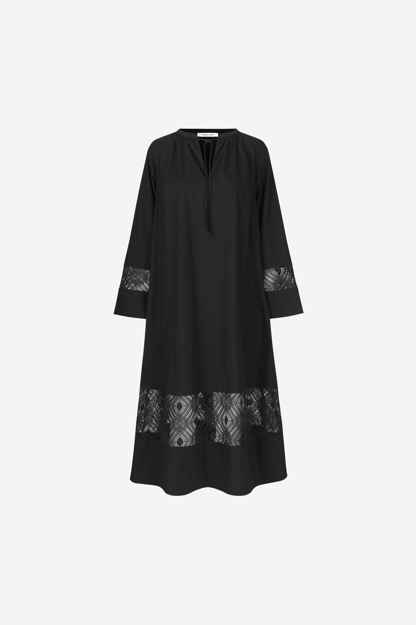 Sahell Black Long Dress-1