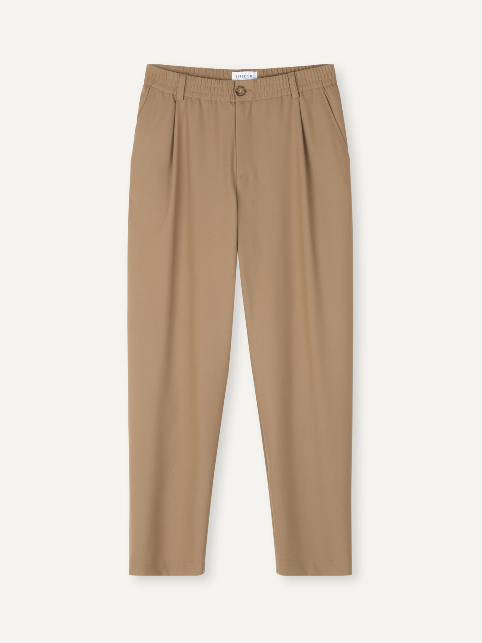 Smoke Loose Fit Pants Khaki-1