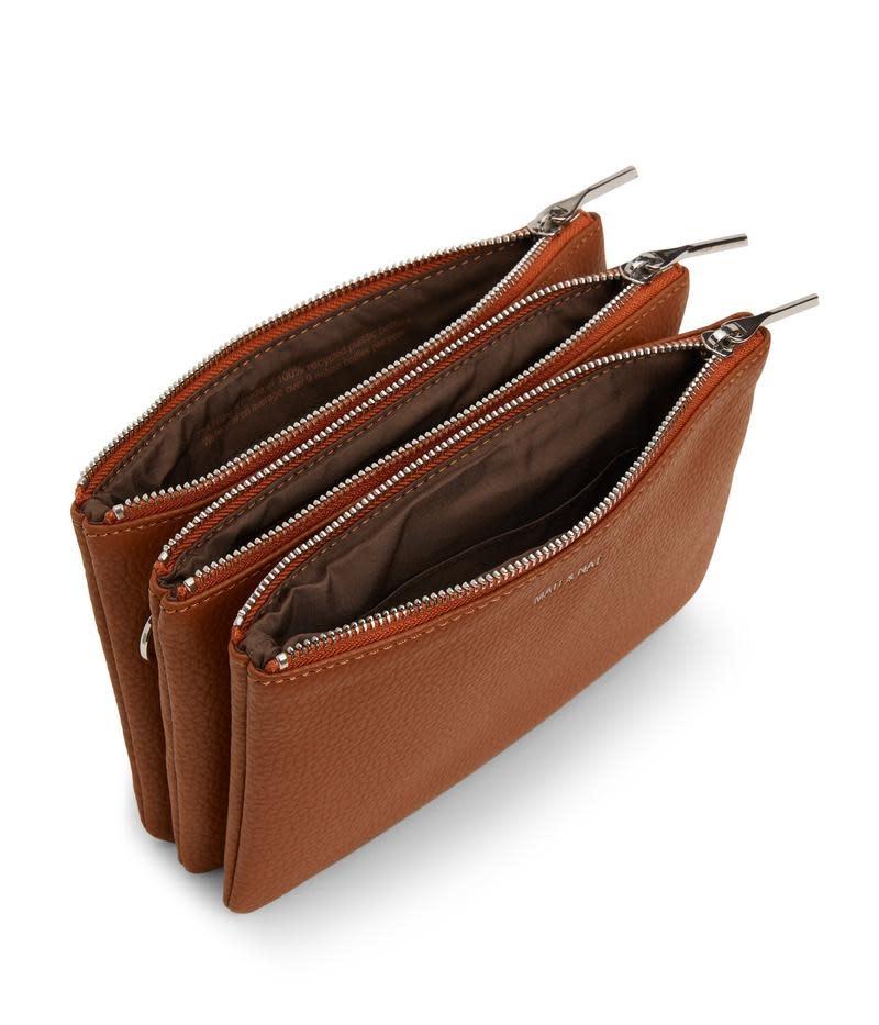 Triplet Crossbody Bag Brown-2