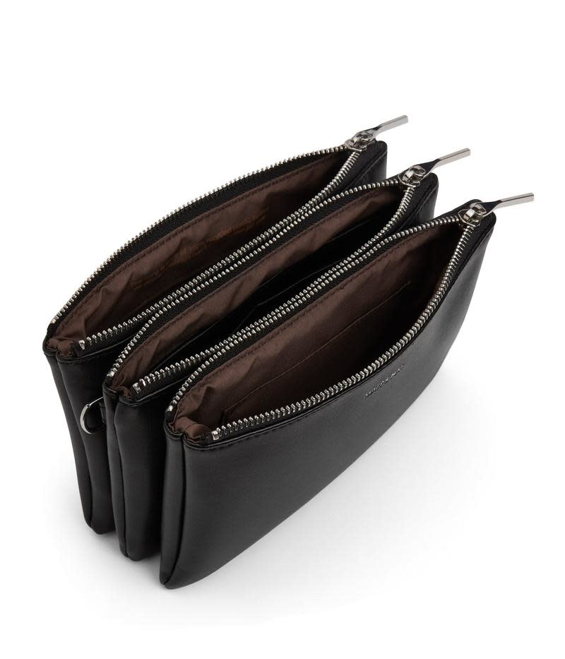 Triplet Crossbody Bag Black Loom-2