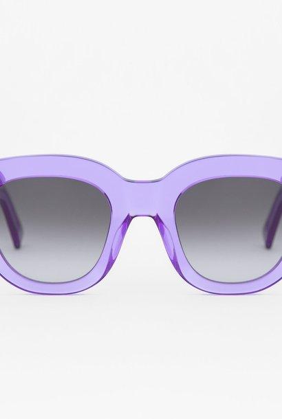 Cleo Clear Purple Sunglasses