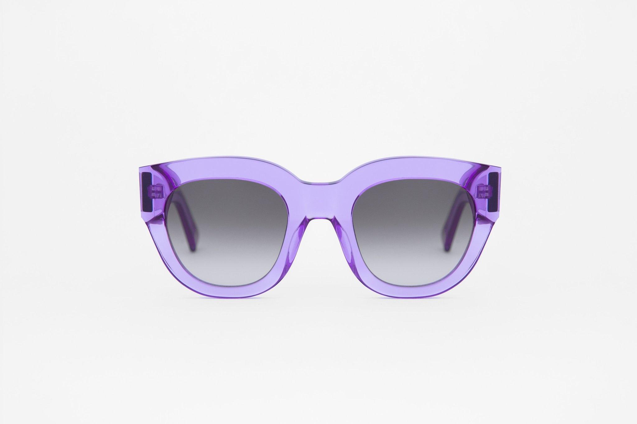 Cleo Clear Purple Sunglasses-1