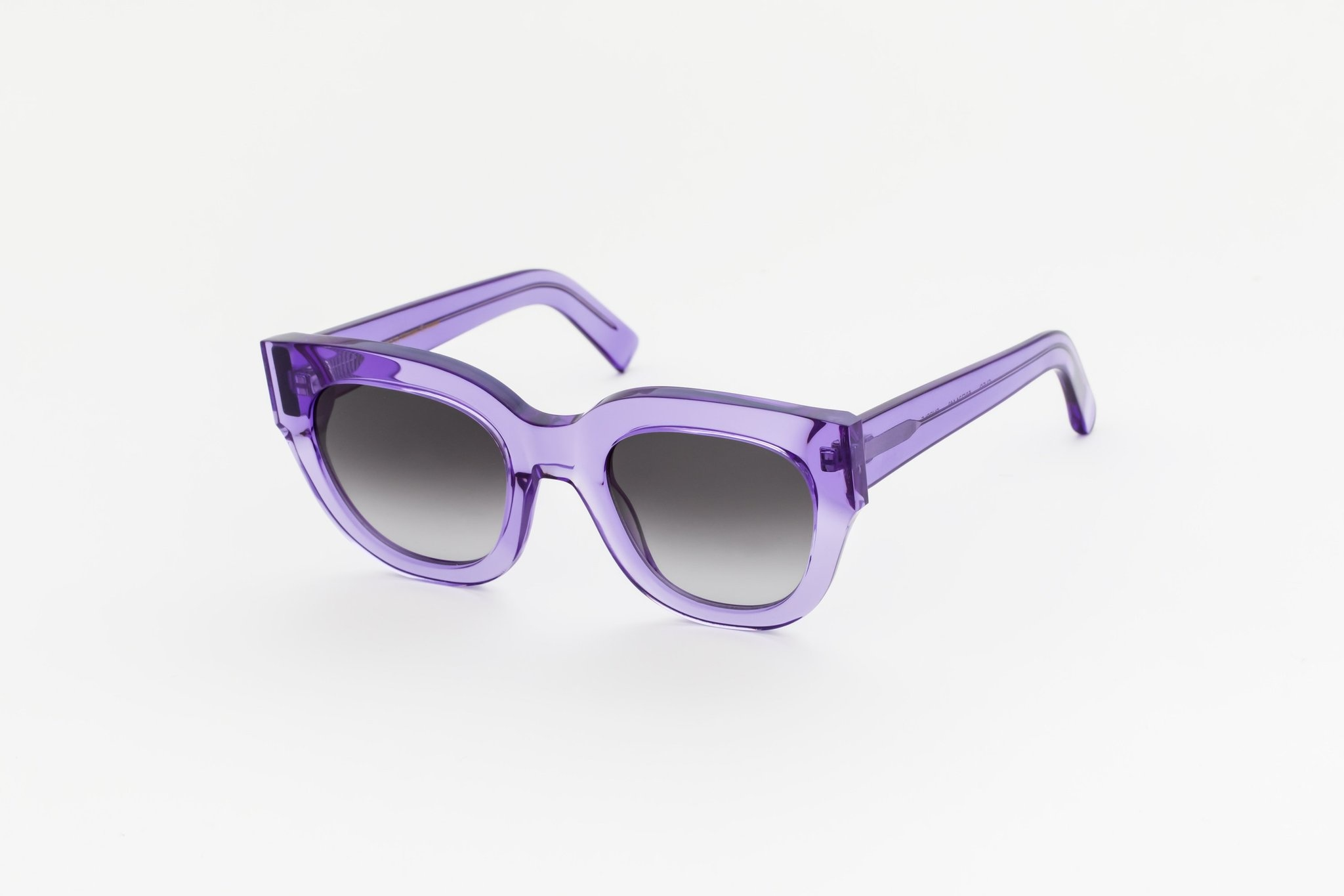 Cleo Clear Purple Sunglasses-2