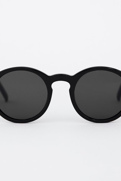 Barstow Black Grey Solid Lens Sunglasses