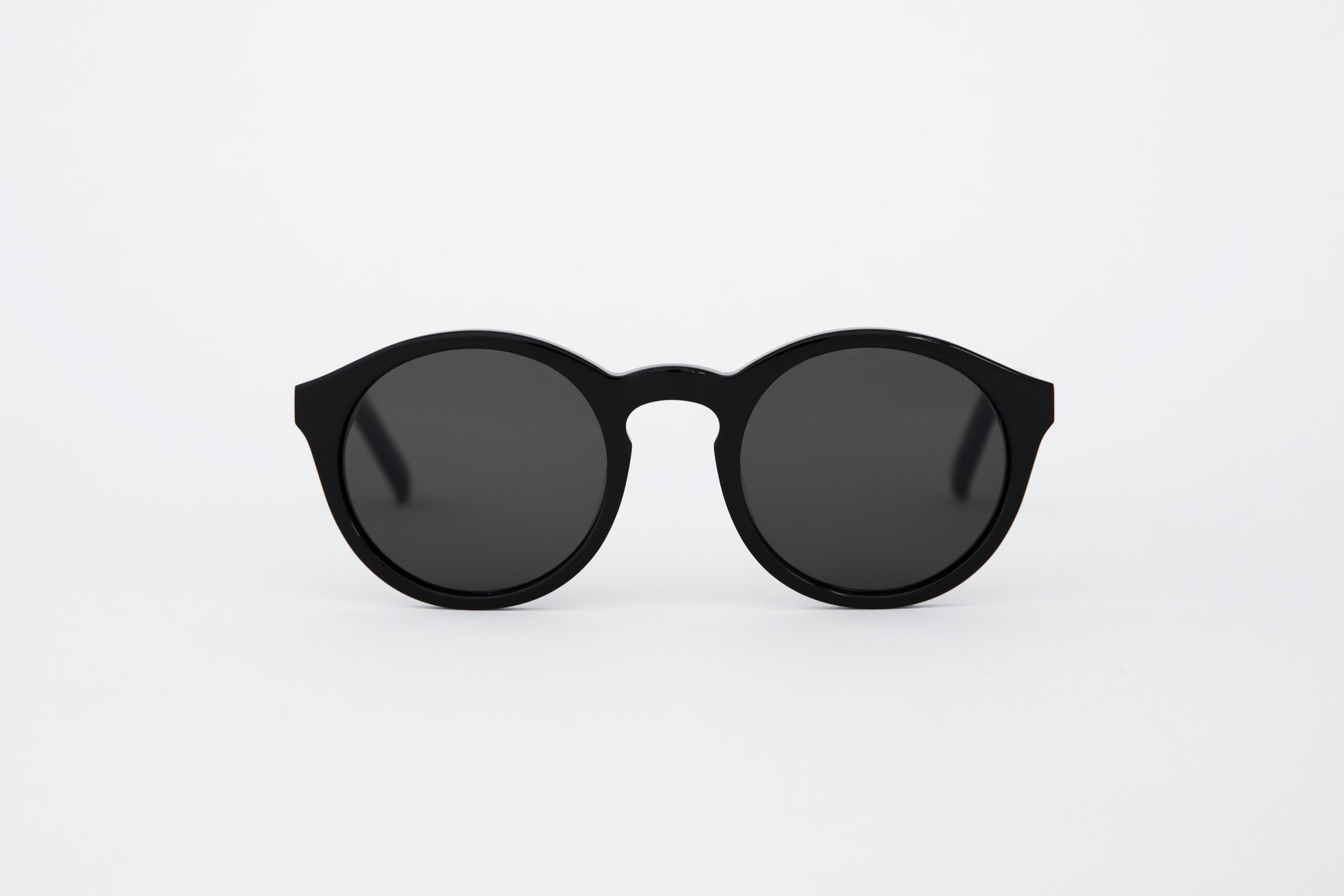 Barstow Black Grey Solid Lens Sunglasses-1