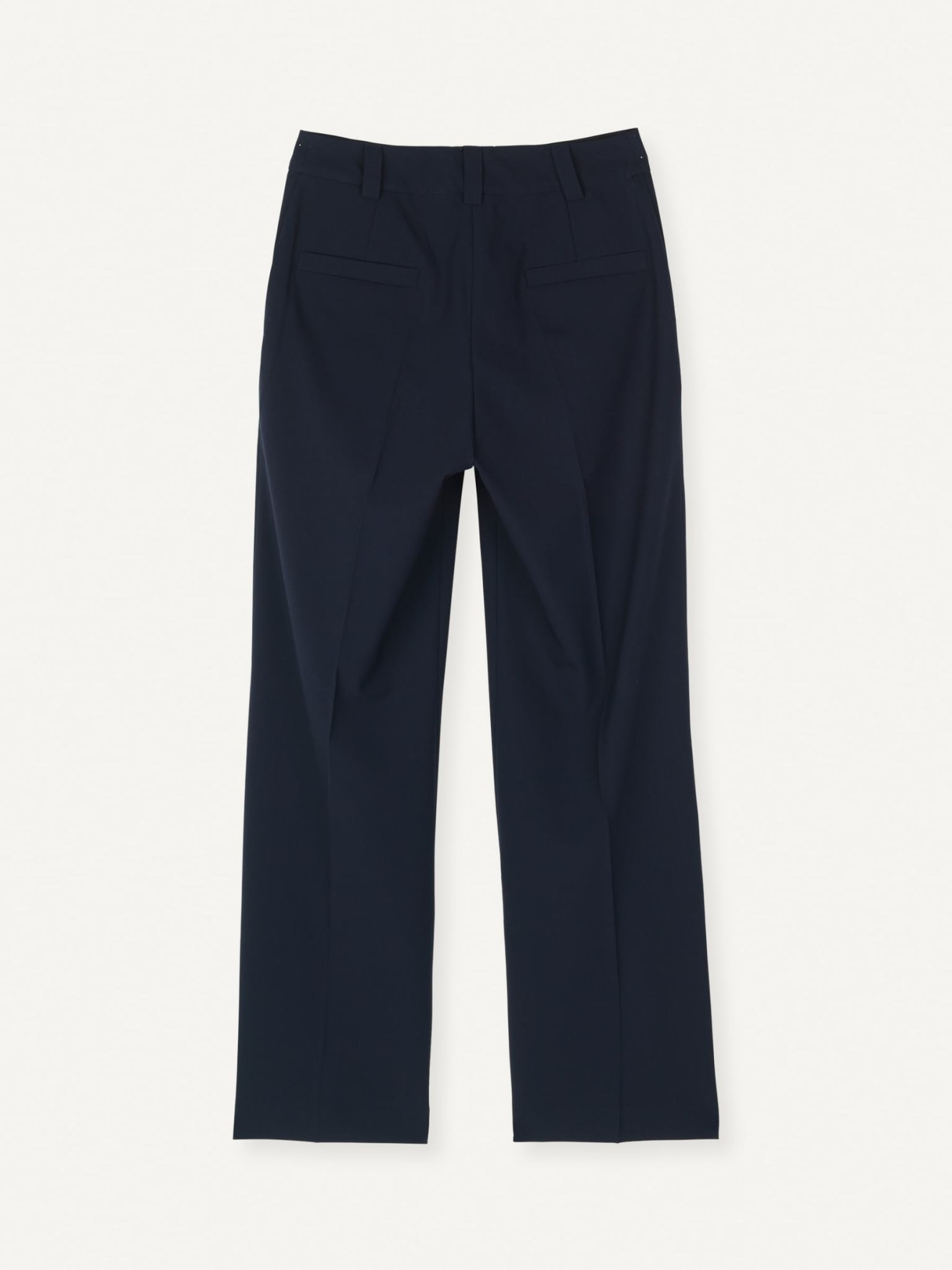 Flaw Straight Trouser Dark Navy-2
