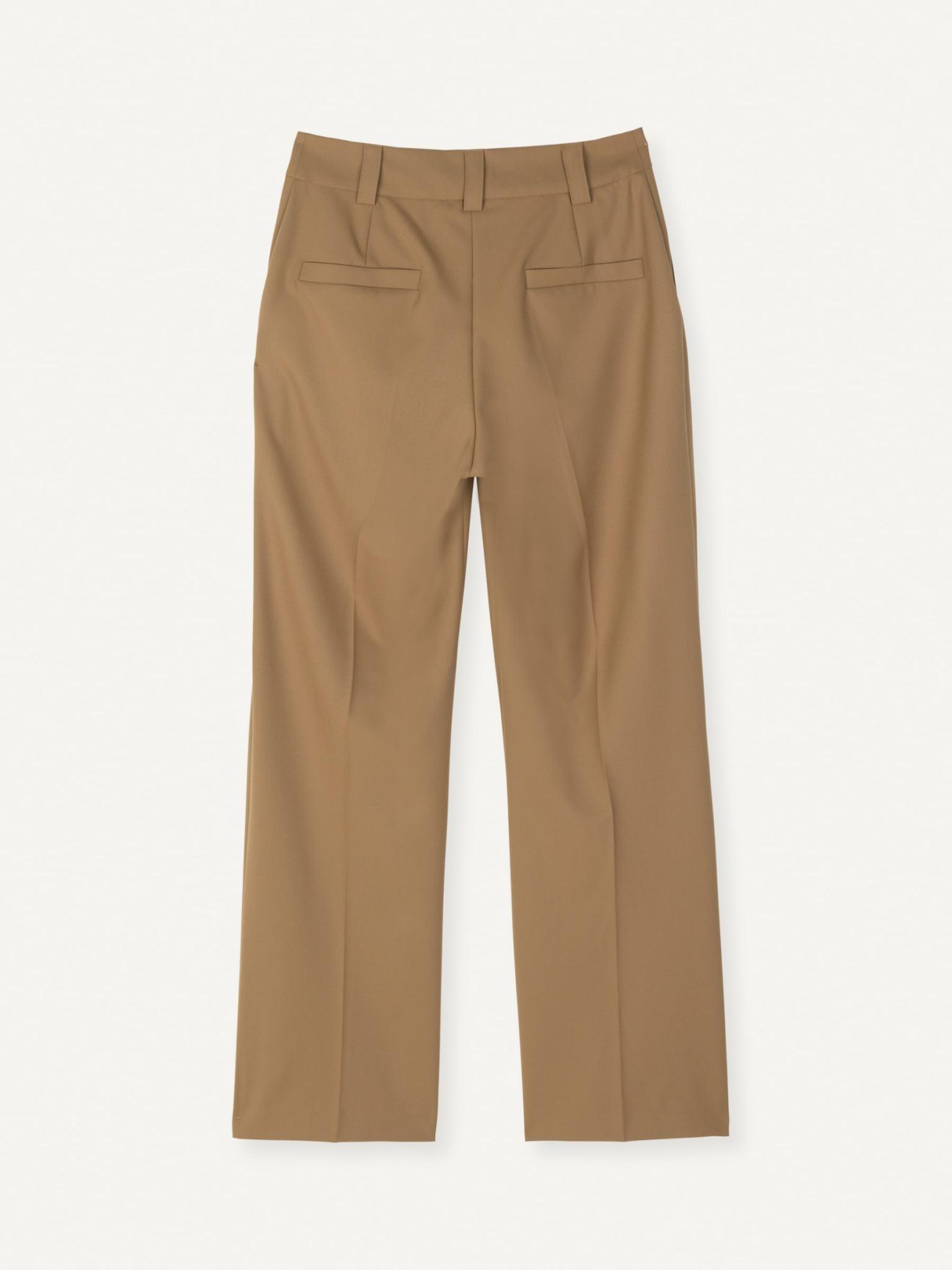Flaw Straight Trouser Khaki-1